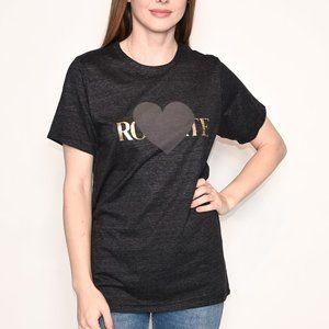 RODARTE Gray Heart Logo Short-Sleeve T-Shirt